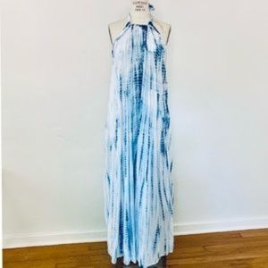 Elan Blue & White Tie Dye Maxi Dress SZ Med